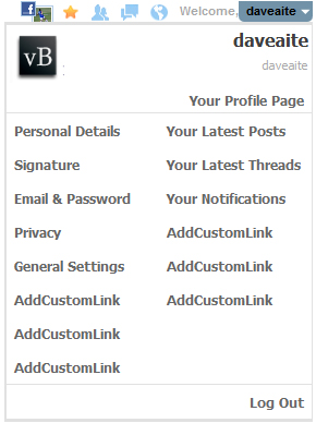 Add Custom Links
