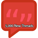 5,000 New Threads